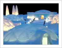 北海道のアルファリゾート・トマムにある氷の街「アイスビレッジ」